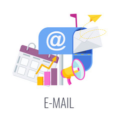 Email infographics pictogram strategy management vector
