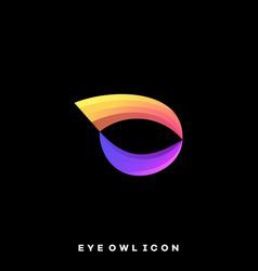 eye owl template vector image