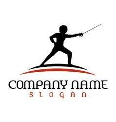 Fencing logo vector
