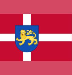 Flag of varde in southern denmark region vector