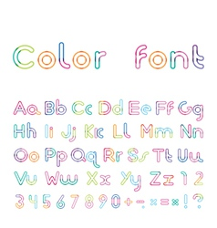 font from a color inking vector image