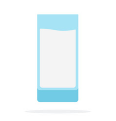 Glass yogurt flat isolated vector