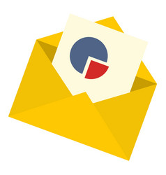 graph email icon flat style vector image