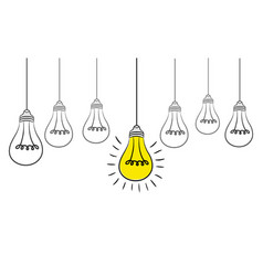 grunge with hanging light bulbs and vector image