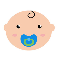 happy baby avatar vector image