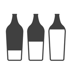icons filling bottles with liquid on white vector image