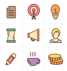 Icons Style Business Icons Set Design vector image