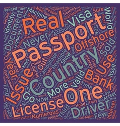 Identity Document Scams text background wordcloud vector image