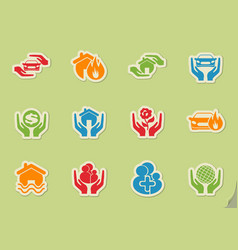 Insurance simply icons vector