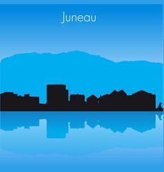 Juneau skyline vector