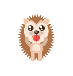 Kawaii porcupine animal toy vector