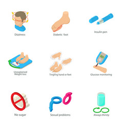 male health icons set cartoon style vector image