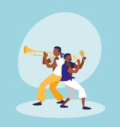 Mambo band avatar character vector