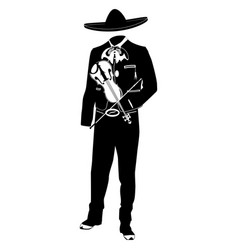mariachi musician with violin vector image