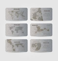 Modern banners with world map eps 10 vector