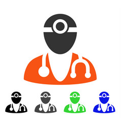 optometrist doctor flat icon vector image