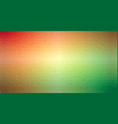orange and green gradient low poly triangular vector image