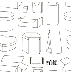 Packing collection pattern vector