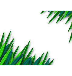 paper cut style green leaves isolated on white vector image