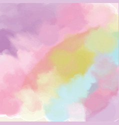 pastel abstract watercolor texture fantasy vector image