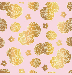 pink gold rose garden seamless repeat vector image