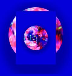 planet glitch interior poster vector image