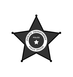 police badge with star in flat style vector image