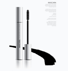 poster cosmetic mascara vector image