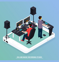 Production music isometric composition vector