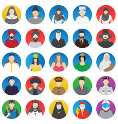 Professional and people color icons set th vector