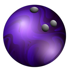 Purple bowling ball on white vector