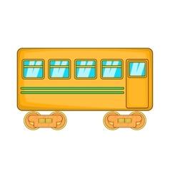 Rail car icon cartoon style vector