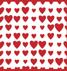 red hearts seamless pattern valentines day vector image
