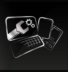repair of smartphones and computer equipment vector image