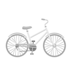 rural women s bicycle the vehicle of a healthy vector image