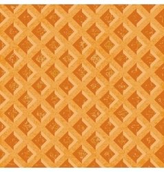 Seamless texture soft waffles The textured vector