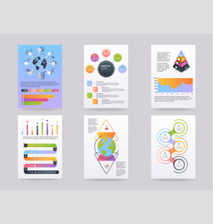 set of brohucres with infographic elements in vector image