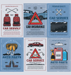 spare parts car insurance retro vehicles repair vector image