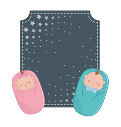 square frame and babys sheltered vector image