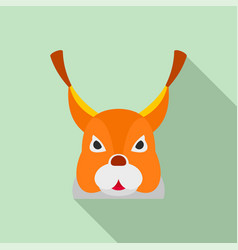 squirrel head icon flat style vector image