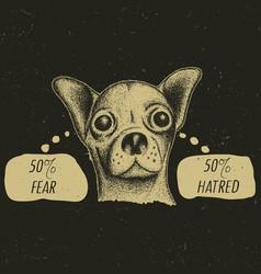 stylish chihuahua poster vector image