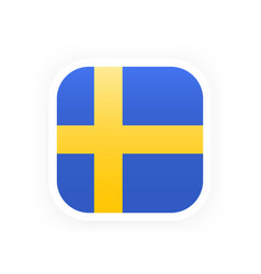sweden flag icon vector image