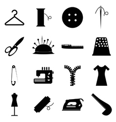 Tailor tools icons set simple style vector image