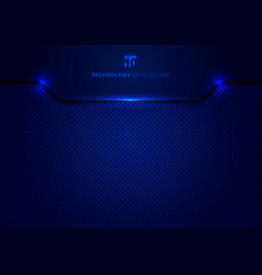 template technology concept geometric header blue vector image