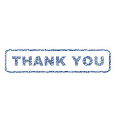thank you textile stamp vector image