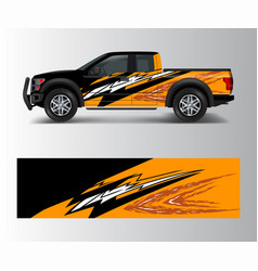 Truck and vehicle car racing graphic for wrap vector