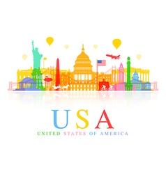 USA Travel vector