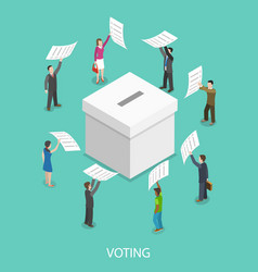 Voting flat isometric concept vector