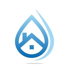 Water drop shapes symbol design icon vector