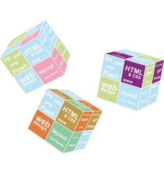 Web cube vector